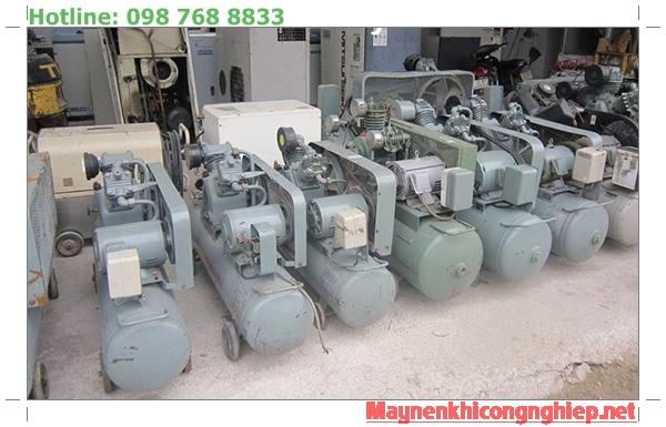 Máy nén khí mini Nhật bãi từ 2hp đến 20hp áp lực 8 bar - 12 bar